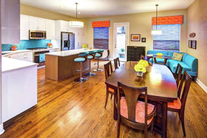 The Houston townhome of Phil and Janet Jenkins, decorated in midcentury modern style.
