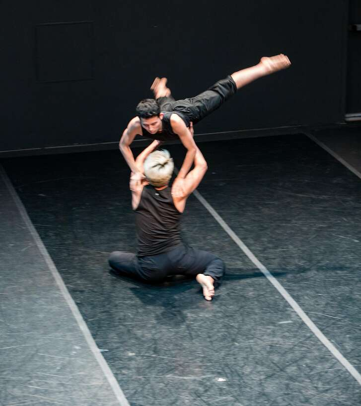 Dancers David Le and Frankie Rivera from San Jose State University perform choreography by Mario Barron in the Young Choreographers Forum Sunday, March 18.   Photo: Matt Haber