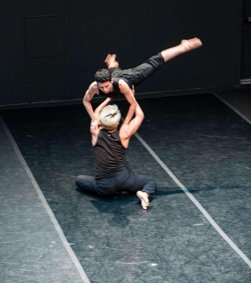 David Le and Frankie Rivera perform a dance by Mario Barron. Photo: Matt Haber