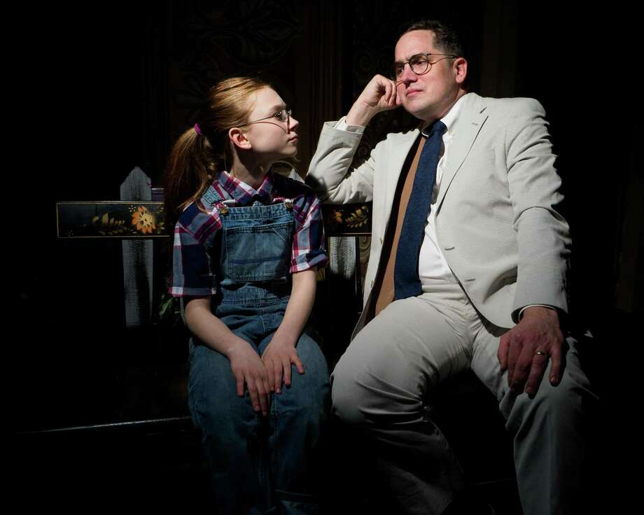 """""""To Kill A Mockingbird,"""" the stage adaptation based on Harper Lee's Pulitzer Prize winning novel, opens tonight at the Thomaston Opera House. Above Bobbie Doherty as Scout and Josiah Rowe as Atticus Finch in a scene from the play. Photo: Photo Courtesy Of Landmark Community Theatre / / LisaCherie"""