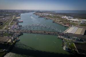 The Harbor Bridge crosses over the Port of Corpus Christi, Thursday, March 8, 2018, in Corpus Christi. ( Mark Mulligan / Houston Chronicle )