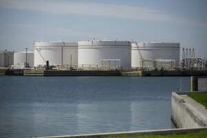 New oil storage tanks sit along the Port of Corpus Christi, Wednesday, March 7, 2018, in Corpus Christi. ( Mark Mulligan / Houston Chronicle )
