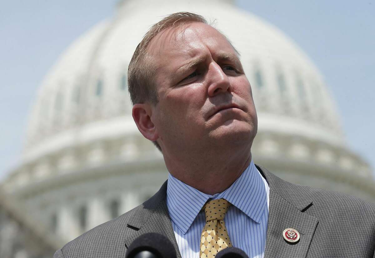 WASHINGTON, DC - MAY 20: Rep. Jeff Denham (R-CA) speaks during a news conference with military 'DREAMers', undocumented youth who aspire to serve the United States in uniform but are prohibited from doing due to their immigration status, in front of the U.S. Capitol May 20, 2014 in Washington, DC. Co-sponsored by Rep. Tammy Duckworth (D-IL), Denham's Enlist Act would amendment to the National Defense Authorization Act to allow some undocumented immigrants to join the military. (Photo by Chip Somodevilla/Getty Images)