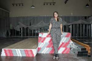 Nikole Davis poses for a portrait in the shell of Pretty Little Things boutique in the Kings Harbor mixed-use development on Thursday, Feb. 22, 2018, in Kingwood. Davis' store took on six feet of water in the aftermath of Hurriane Harvey. Davis opened a pop-up shop, in nearby Atascocita, and expanded her online business to keep selling her merchandise while she rebuilds her store. ( Brett Coomer / Houston Chronicle )