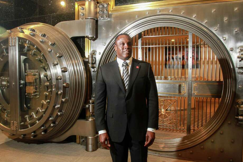 David Miree, Wells Fargo's leader of community banking for Texas, near a bank vault at their 1000 Louisiana Street branch.  (For the Chronicle/Gary Fountain, March 6, 2018) Photo: Gary Fountain, For The Chronicle / For The Chronicle/Gary Fountain / Copyright 2018 Gary Fountain
