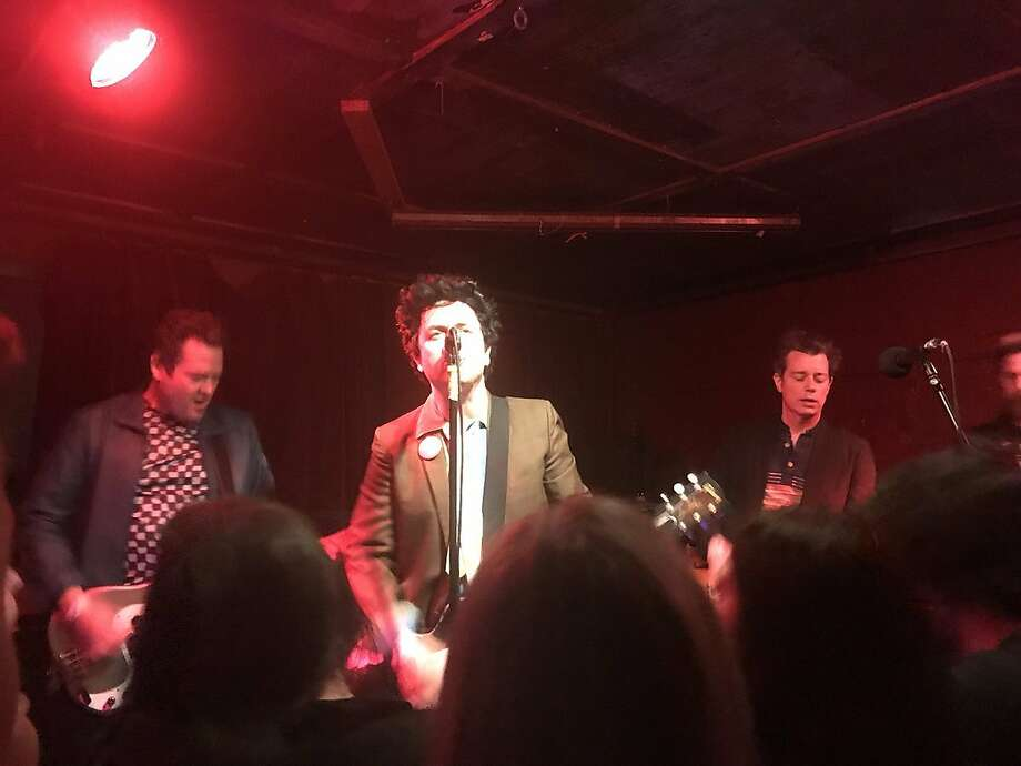 "Billie Joe Armstrong and his band the Coverups, a side project with his fellow Green Day members, performed a ""secret show"" at Thee Parkside in San Francisco on Thursday, March 8. Photo: Ann Killion"