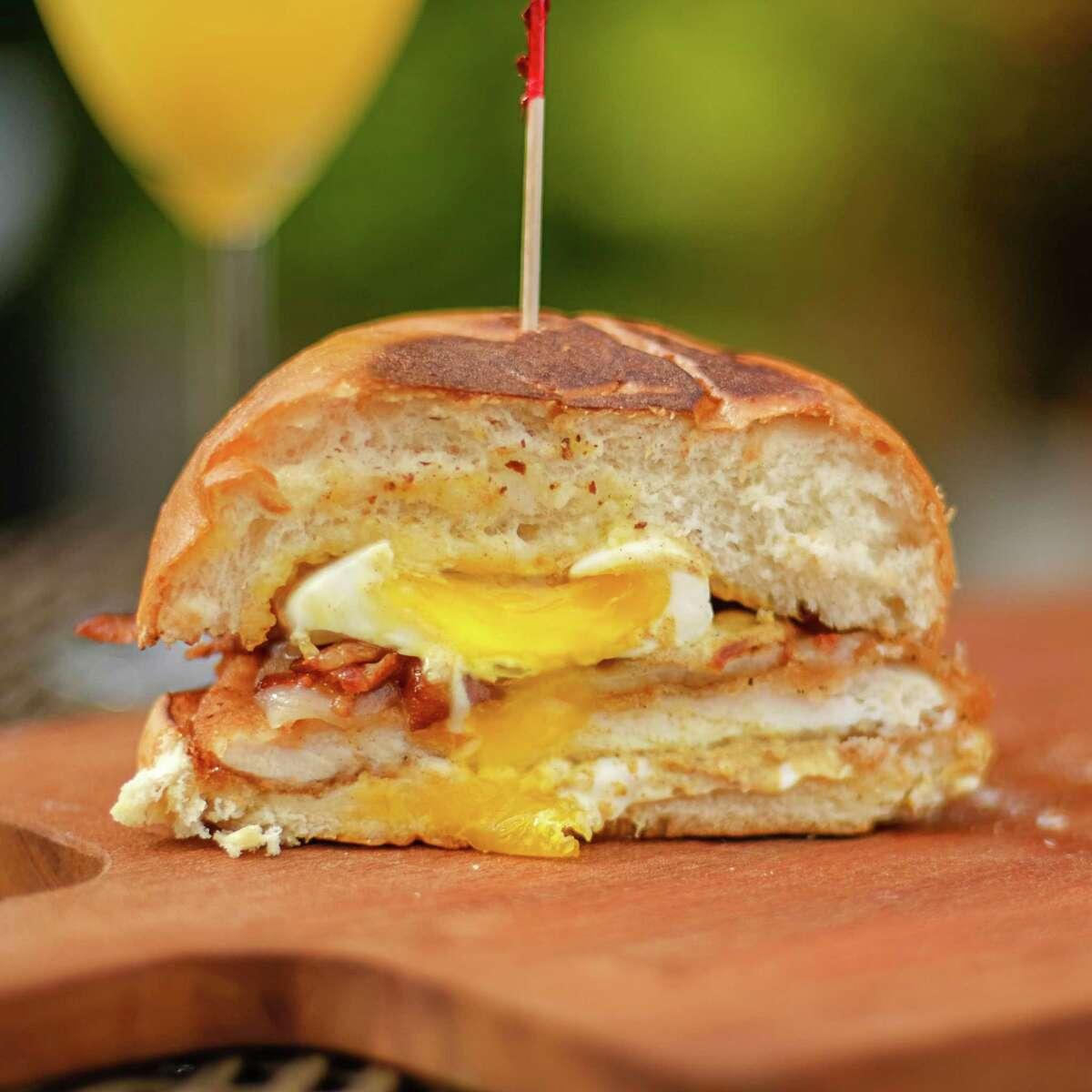 King's BierHaus, 2044 E. T.C. Jester, will start serving Sunday brunch on March 11. Shown: Handover Sandwich.