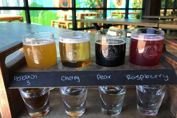 King's BierHaus is opening May 8 at 2044 E. TC Jester. It is owned by Hans and Philipp Sitter who also own King's Biergarten in Pearland. Shown: Beer and schnapps sampler.