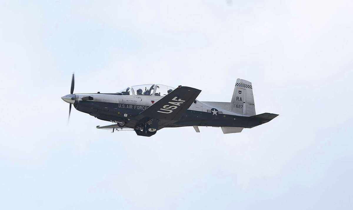 A T-6A aircraft at Joint Base San Antonio-Randolph on March 2. An oxygen delivery system in this plane might be imperiling pilot lives.