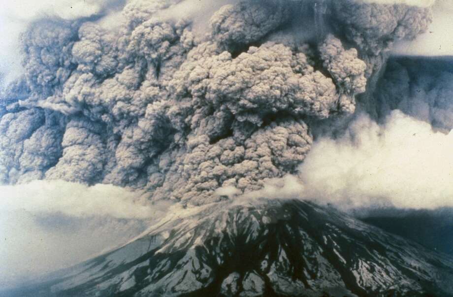 Mt. St. Helens erupts, May 18, 1980. Photo: Washington State Archives