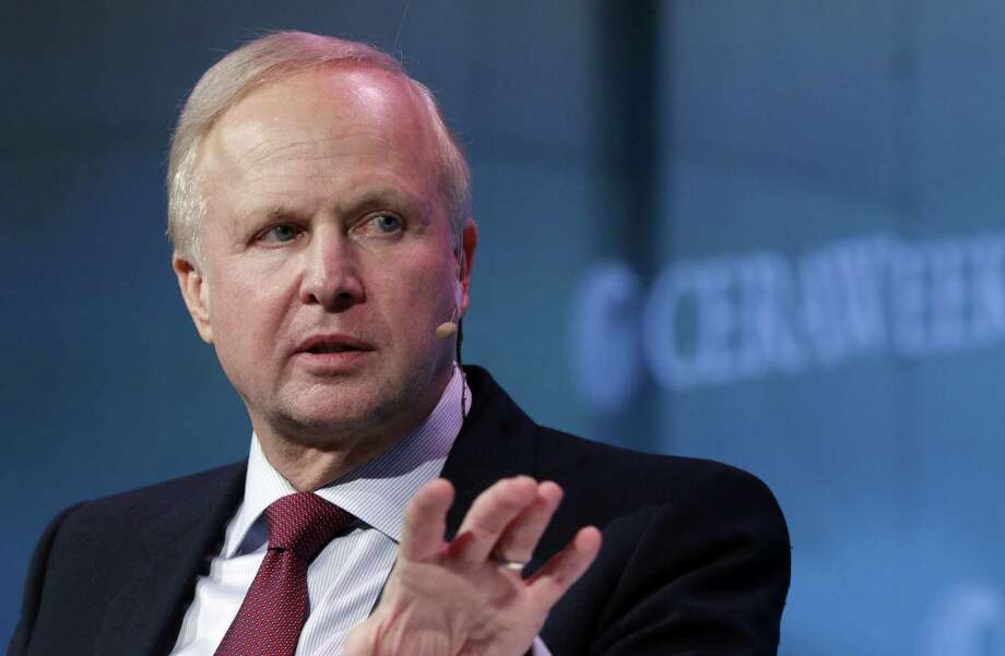 BP Chief Executive Bob Dudley answers questions from moderator Dan Yergin during a Q&A session after Dudley's speech at CERAWeek held at the Hilton Americas Hotel Tuesday, Mar. 6, 2018 in Houston, TX. (Michael Wyke / For the  Chronicle) Photo: Michael Wyke, Freelance / For The Chronicle / © 2018 Houston Chronicle