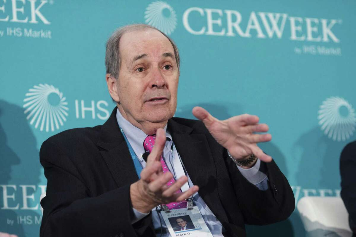 Mark Papa, chairman and chief executive officer of Centennial Resource Development Inc., speaks during the 2018 CERAWeek by IHS Markit conference in Houston, Texas, U.S., on Tuesday, March 6, 2018. CERAWeek gathers energy industry leaders, experts, government officials and policymakers, leaders from the technology, financial, and industrial communities to provide new insights and critically-important dialogue on energy markets. Photographer: F. Carter Smith/Bloomberg
