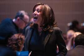 U.S. Senator Kamala D. Harris arrives at the Y for Youth luncheon hosted by the YMCA at Yerba Buena Center for the Arts Friday, March 9, 2018 in San Francisco, Calif.