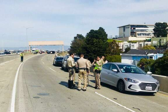 The California Highway Patrol was investigating an armed robbery on a San Francisco freeway on Friday afternoon.
