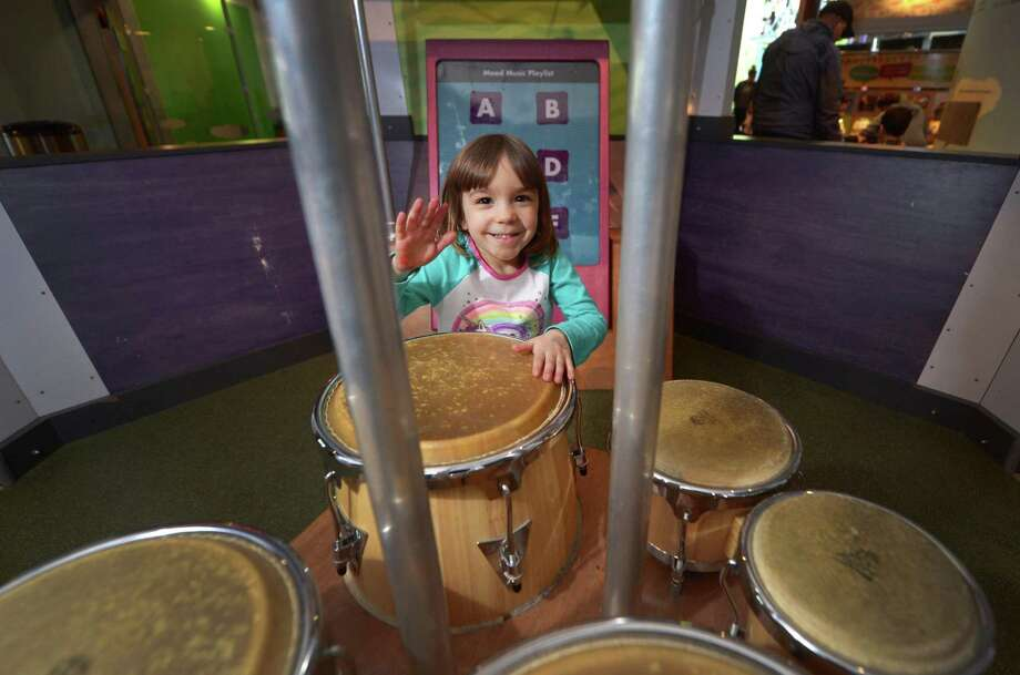 Norwalk resident Paloma Arango, 4, plays at Stepping Stones Museum for Children Friday, March 9, 2018, in Norwalk, Conn. Stepping Stones Museum decided to offer free admission to all Norwalk residents after hearing that schools were closed today for the third day in a row. Photo: Erik Trautmann / Hearst Connecticut Media / Norwalk Hour