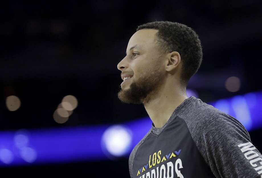 Golden State Warriors guard Stephen Curry before an NBA basketball game against the San Antonio Spurs in Oakland, Calif., Thursday, March 8, 2018. (AP Photo/Jeff Chiu) Photo: Jeff Chiu, Associated Press