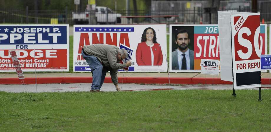 If a candidate is no longer running, campaign signs need to come down, particularly if they are illegally in the public right of way. Photo: Eric Gay /Associated Press / Copyright 2018 The Associated Press. All rights reserved.