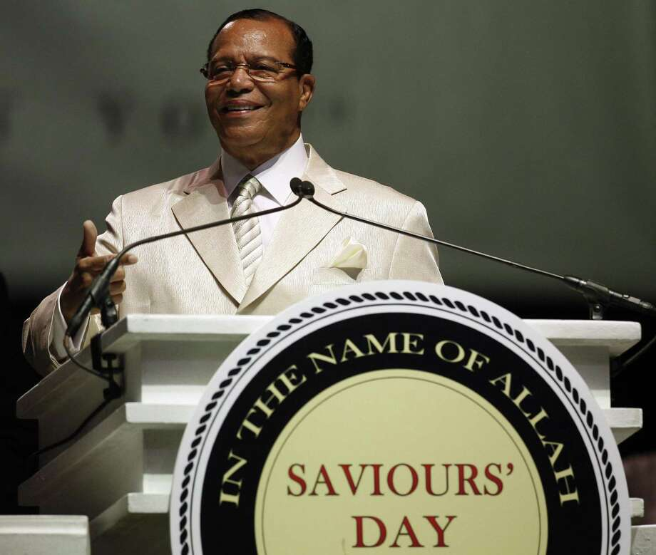 Nation of Islam leader Louis Farrakhan delivers a speech in observance of Saviours' Day in 2008 in Chicago. In this year's Saviour's Day, Farrakhan again delivered anti-semitic absurdities for which the left should denounce him. Photo: Jerry Lai /AP / AP