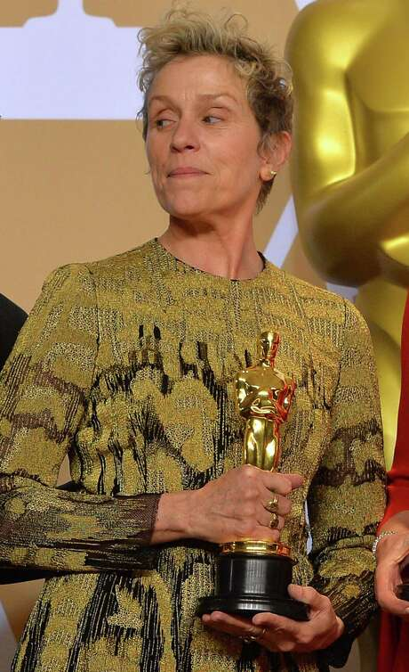 """Best Actress winner Frances McDormand backstage at the 90th Academy Awards ceremony on March 4 in Hollywood, Calif. McDormand's mention of """"inclusion rider"""" in her acceptance speech likely sent a lot of people to Google. Photo: Scott Varley /TNS / Tribune News Service"""