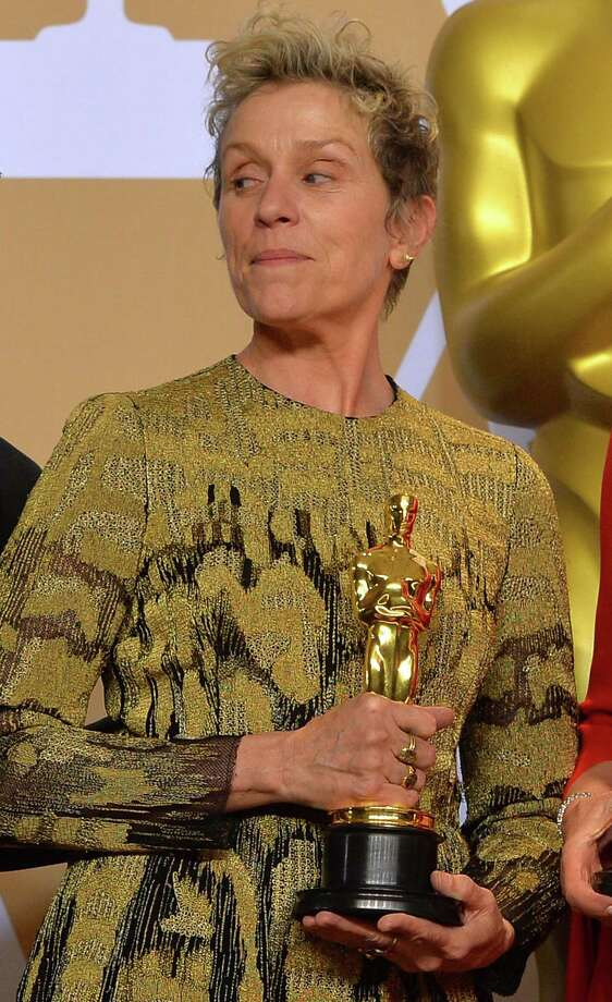 "Best Actress winner Frances McDormand backstage at the 90th Academy Awards ceremony on March 4 in Hollywood, Calif. McDormand's mention of ""inclusion rider"" in her acceptance speech likely sent a lot of people to Google. Photo: Scott Varley /TNS / Tribune News Service"