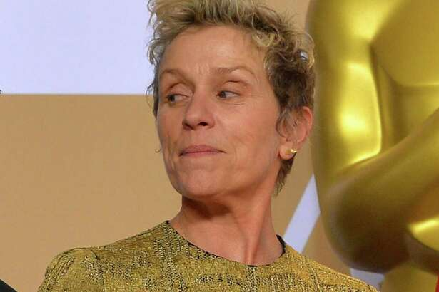 """Best Actress winner Frances McDormand backstage at the 90th Academy Awards ceremony on March 4 in Hollywood, Calif. McDormand's mention of """"inclusion rider"""" in her acceptance speech likely sent a lot of people to Google."""