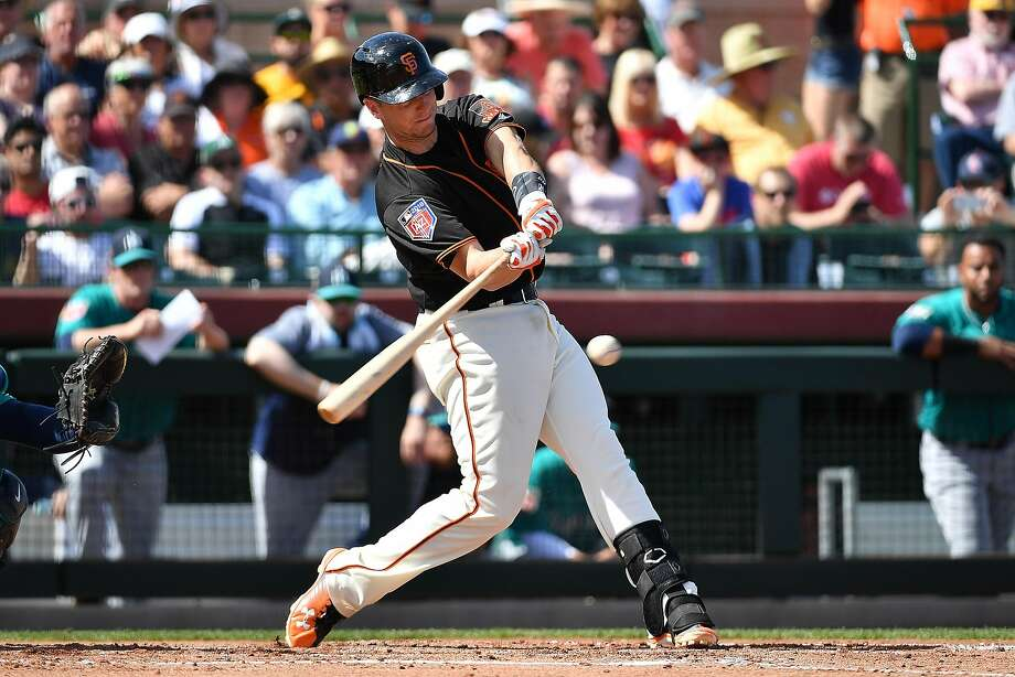 ef4e7f14c910a Giants  Buster Posey has three hits in return - SFGate