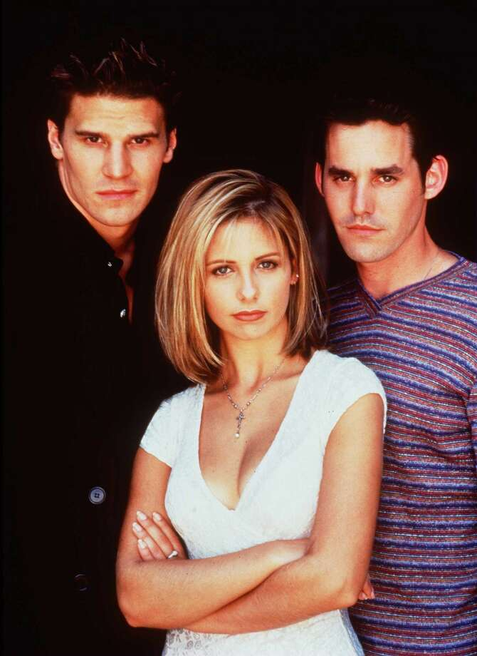 """Buffy"" starred (from left) David Boreanaz as Angel, Sarah Michelle Gellar as Buffy and Nicholas Brendon as Xander Harris. Photo: Getty Images/handout"