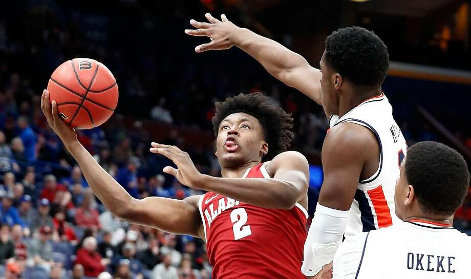 ST LOUIS, MO - MARCH 09:  Collin Sexton #2 of the Alabama Crimson Tide shoots the ball in the 81-63 win over the Auburn Tigers during the quarterfinals round of the 2018 SEC Basketball Tournament at Scottrade Center on March 9, 2018 in St Louis, Missouri.  (Photo by Andy Lyons/Getty Images) Photo: Andy Lyons, Getty Images