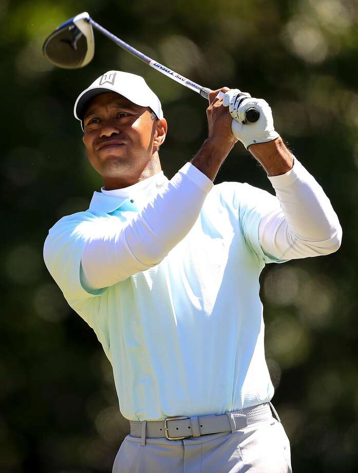 PALM HARBOR, FL - MARCH 09:  Tiger Woods plays his shot from the ninth tee during the second round of the Valspar Championship at Innisbrook Resort Copperhead Course on March 9, 2018 in Palm Harbor, Florida.  (Photo by Sam Greenwood/Getty Images) Photo: Sam Greenwood, Getty Images