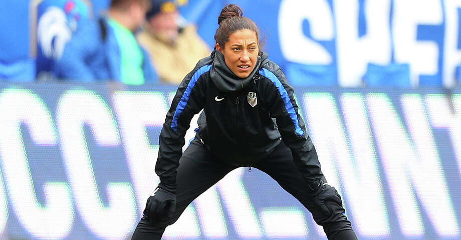 The NWSL league office has told the Dash that U.S. national team forward Christen Press will not join the club. The Dash acquired her in a trade in January. Photo: Icon Sportswire/Icon Sportswire Via Getty Images