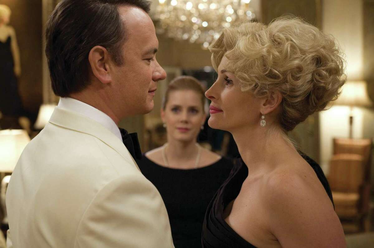 Tom Hanks plays Congressman Charlie Wilson and Julie Roberts portrays Houstonian Joanne Herring in the 2007 film,