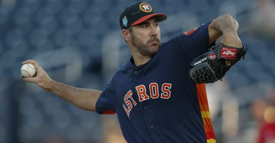 Entering his 14th major league season, Verlander says besides a few minor adjustments his routine is a simple calculation designed to get him up to around 95 pitches by his final start of the spring – he is scheduled to make three more starts – so that he can be ready to throw 110 pitches, if necessary, on opening day. Photo: John Bazemore/Associated Press