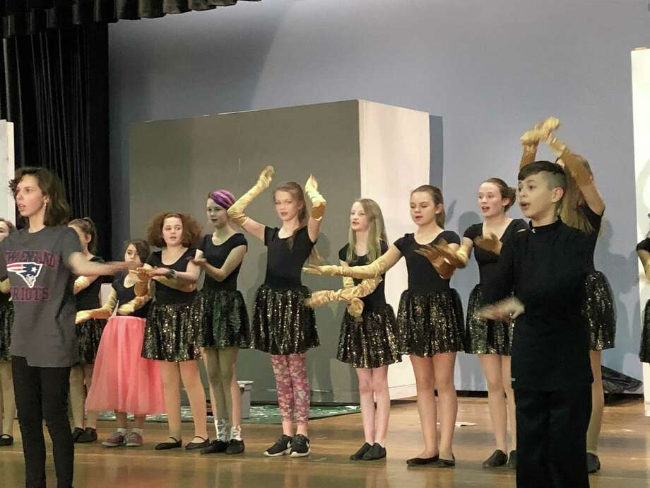 "The Torrington Middle School Drama Club will stage ""Beauty and the Beast"" March 15-17. Above, the ensemble case rehearses ""Be Our Guest."" Photo: Veronica Gelormino /Torrington Middle School /"