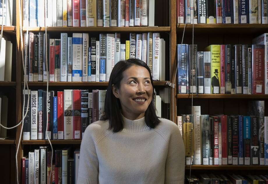 """San Francisco filmmaker Atsuko Hirayanagi visits the San Francisco Public Library's Noe Valley branch, where she wrote the script for her new movie, """"Oh Lucy!"""" Photo: Jessica Christian, The Chronicle"""
