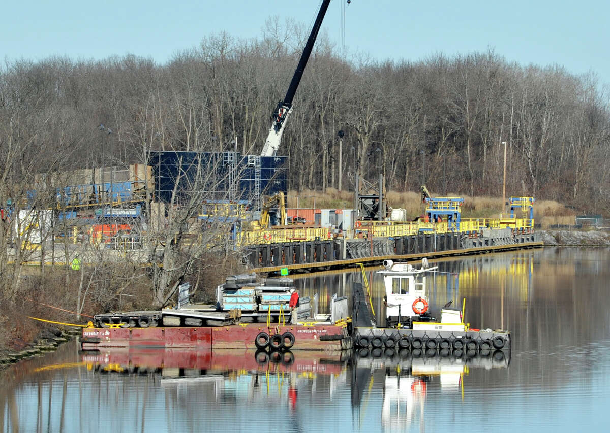 A view of the General Electric PCB processing plant along the Champlain Canal, seen on Tuesday, Nov. 17, 2015, in Fort Edward, N.Y. (Paul Buckowski / Times Union)