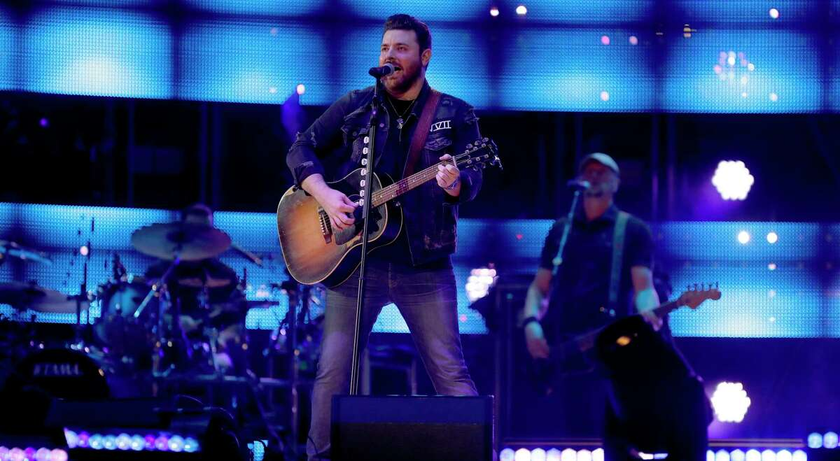 Chris Young performs in concert at the Houston Livestock Show and Rodeo at NRG Stadium, Friday, March 9, 2018, in Houston.