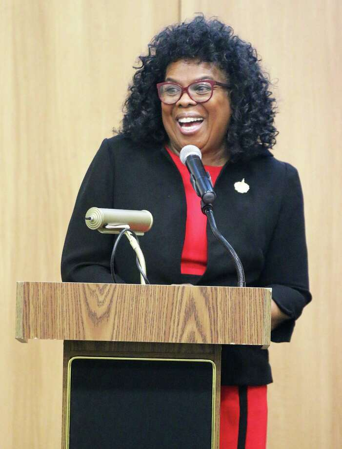 Beverly Ferguson, regional director of community relations in Congressman Brian Babin's office, was the guest speaker at the monthly Dayton Chamber of Commerce luncheon. Ferguson discussed constituent services in the congressman's office. Photo: David Taylor