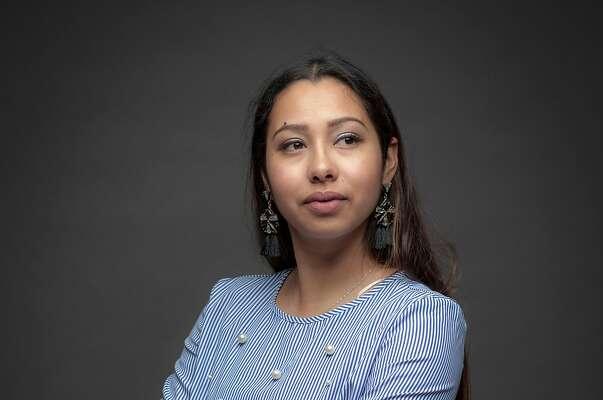 Sarahi Espinoza Salamanca, creator of Dreamers Road Map in San Francisco, California, USA 8 Mar 2018.