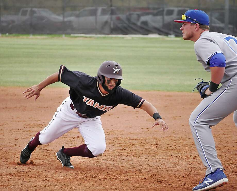 The Dustdevils baseball team lost 10-2 and 13-0 at Lubbock Christian Friday, giving up a run in 10 of 12 innings the Chaparrals batted. TAMIU outfielder Kobrey Garcia was the lone player with a hit in each game of the doubleheader. Photo: Cuate Santos /Laredo Morning Times File / Laredo Morning Times