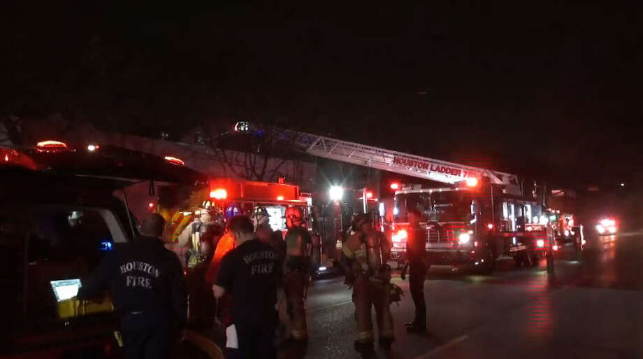 A fryer sparked an overnight blaze in the warehouse for a tofu maker. Photo: Metro Video