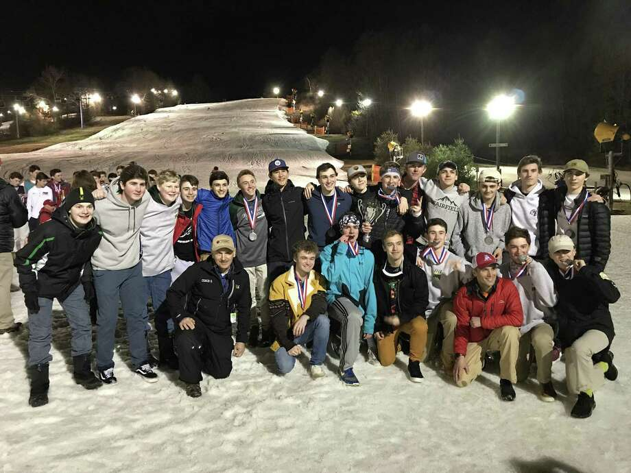 The Fairfield co-op boys ski team finished second in the recent CISL championships held at Mount Southington. The boys finished with a 21-4 record. Photo: Contributed Photo /