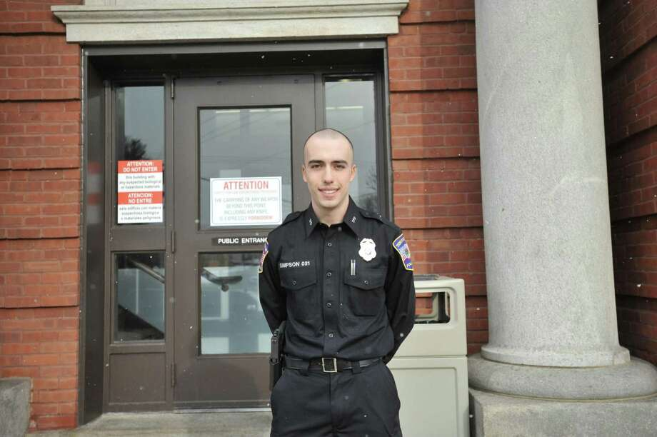 Thomaston native Zachary Simpson is following in his grandfather's footsteps as he becomes a member of the Torrington Police Department. Photo: Ben Lambert / Hearst Connecticut Media