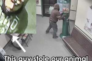 A man in Sacramento stole an animal shelter's gumball machine.