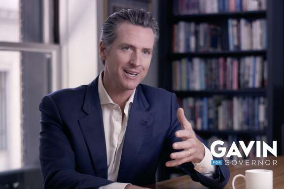 "Gavin Newsom recalls his late mom, Tessa, in a new campaign ad that tries to change his ""rich kid"" image. The ad features childhood photos of the candidate with his single mom, some including his sister, Hilary, below left. The ad will run online for now."