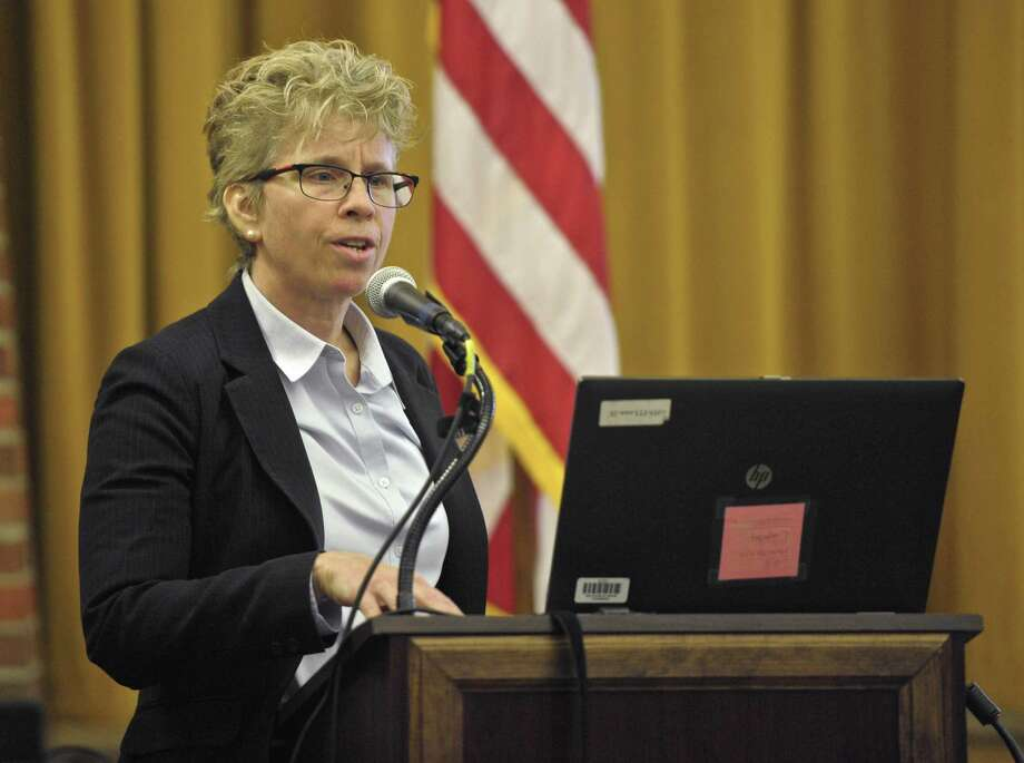 Superintendent Karen Baldwin has been placed on administrative leave with pay by the Ridgefield school board due to plagiarism allegations. Photo: H John Voorhees III / Hearst Connecticut Media / The News-Times