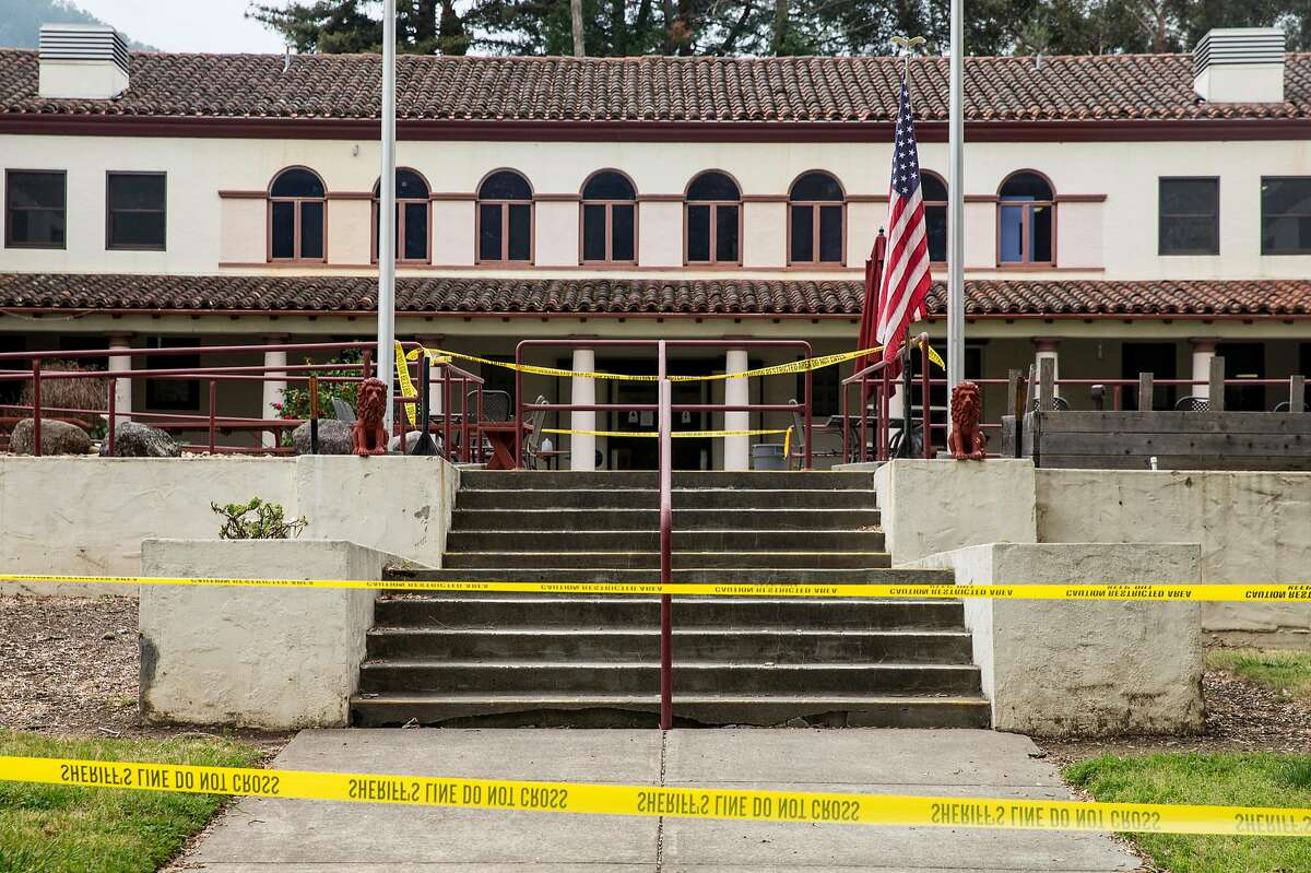 Caution tape surrounds the Madison Hall of Pathway Home following the deadly shooting of three female Pathway employees by a former resident at Yountville Veterans Home of California Saturday, March 10, 2018 in Yountville, Calif.