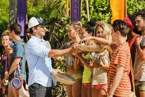"""MANA ISLAND - JUNE 10: """"Only Time Will Tell"""" - Jeff Probst, Jenna Bowman, Stephanie Johnson, Libby Vincek, Donathan Hurley, and Michael Yerger on the third episode of Survivor: Ghost Island, airing Wednesday, March 7 (8:00-9:00 PM, ET/PT) on the CBS Television Network. Photo: Robert Voets/CBS Entertainment �©2018 CBS Broadcasting, Inc. All Rights Reserved.Jeff Probst;Jenna Bowman;Stephanie Johnson;Libby Vincek;Donathan Hurley;Michael Yerger"""