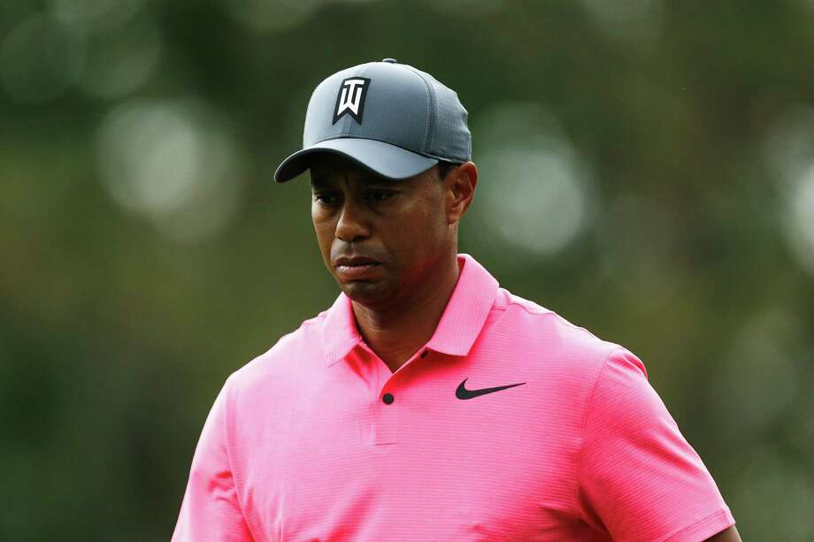 PALM HARBOR, FL - MARCH 10:  Tiger Woods looks on on the 12th hole during the third round of the Valspar Championship at Innisbrook Resort Copperhead Course on March 10, 2018 in Palm Harbor, Florida.  (Photo by Michael Reaves/Getty Images) Photo: Michael Reaves, Stringer / 2018 Getty Images