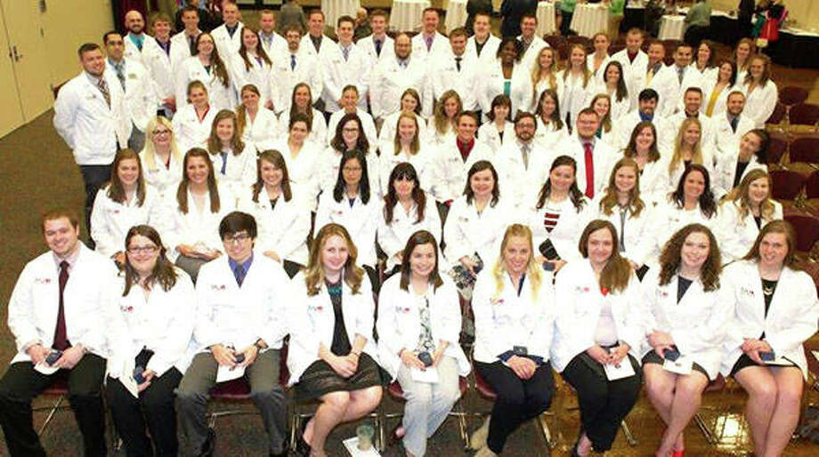 SIUE School of Pharmacy class of 2017 during their pinning ceremony. Photo: For The Telegraph