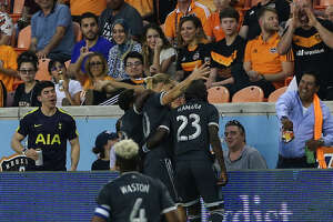 Houston Dynamo fans booing Vancouver Whitecaps players after Brek Shea (20) scored a goal for their teamn during the second half of the MLS game at BBVA Compass Stadium on Saturday, March 10, 2018, in Houston. The Houston Dynamo lost to the Vancouver Whitecaps 2-1. ( Yi-Chin Lee / Houston Chronicle )